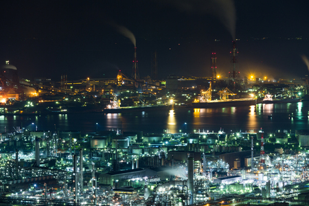 Industrial area in Japan Stock Photo
