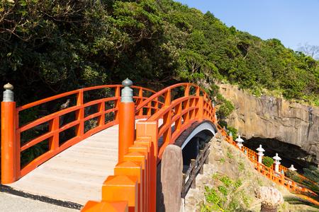 Aoshima Shrine in Japan 版權商用圖片