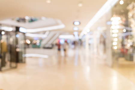 lighting background: Shopping mall abstract defocused blurred background