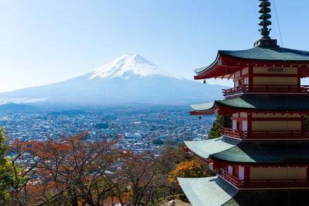 sengen: Mount Fuji and Chureito Pagoda, Japan