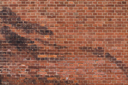 Vintage brick wall in red Stock Photo