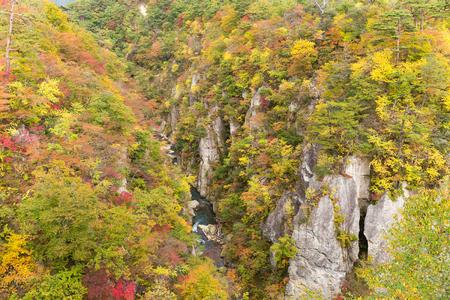 Naruko Gorge in autumn season Banco de Imagens
