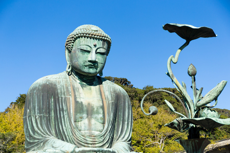 Great Buddha on the grounds of Kotokuin Temple in Kamakura