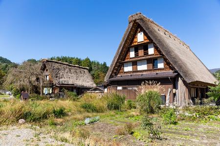 Historic Villages in Shirakawago Stock Photo