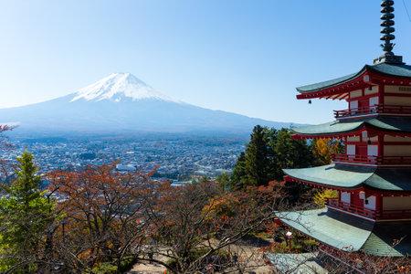 sengen: Mountain Fuji and Chureito Pagoda