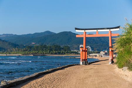 Torii in Aoshima Shrine of Japan