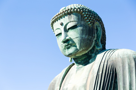 Big Buddha bronze statue in japan Stock Photo