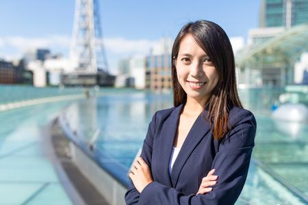 Business woman at Nagoya city of Japan
