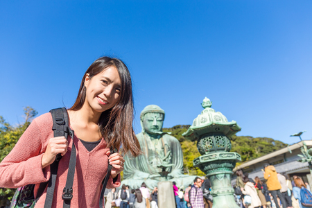 Woman travel in Kamakura city Stock Photo