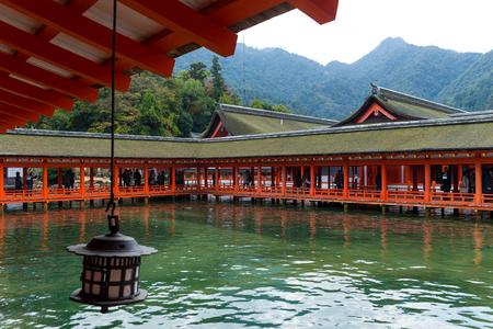 Itsukushima Shrine in Japan Stock Photo
