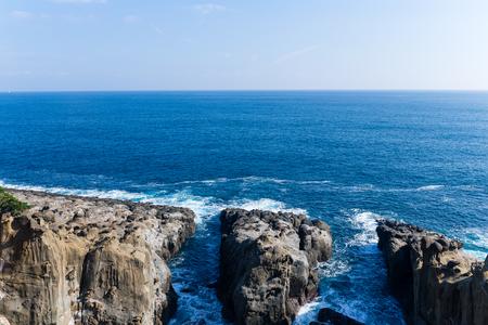 Sea coast in Miyazaki city of Japan Stock Photo