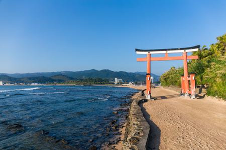 Torii in Aoshima Shrine Stock Photo