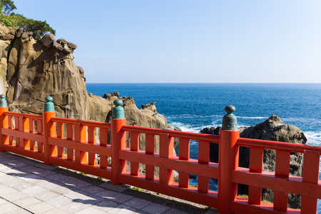 washboard: Aoshima Shrine and coastline in Japan