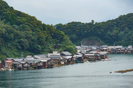 cocaine: Fisherman Village in Kyoto of Japan Stock Photo