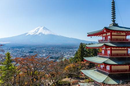 sengen: Mountain Fuji and Chureito Pagoda, Japan