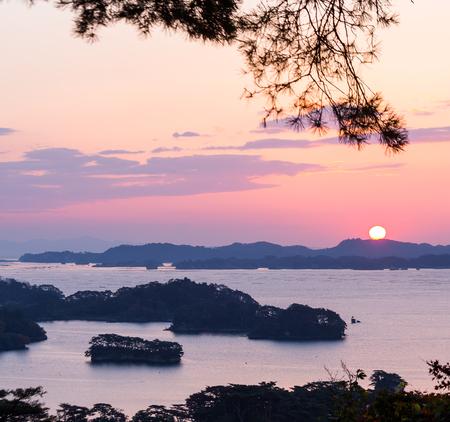 Matsushima bij zonsopgang