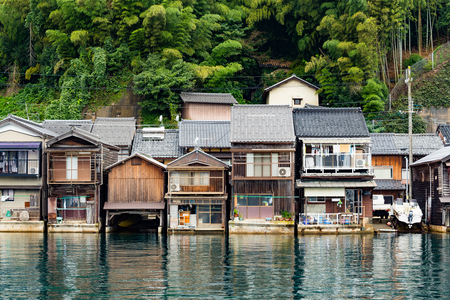 cocaine: Japanese old town, Ine-cho in Kyoto of Japan Stock Photo