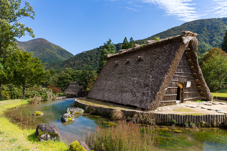 Traditional Shirakawago in Japan Stock Photo
