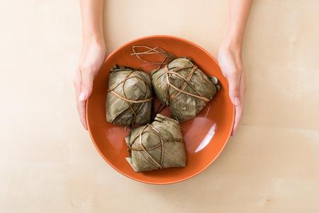 Top view of rice dumpling