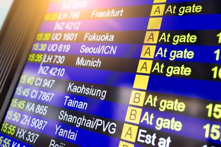 Departure board information board 版權商用圖片