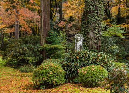 Autumn Japanese garden Stock Photo