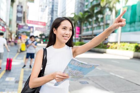 Woman travel in Hong Kong