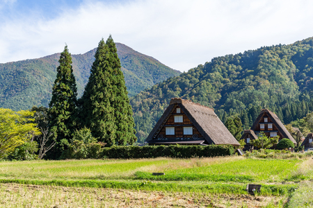 Traditional Japanese Shirakawago village