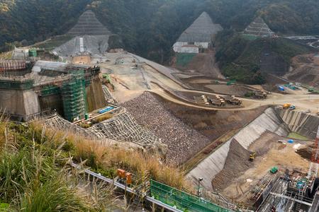Construction site of dam