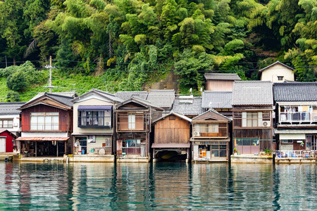 cocaine: Ine town in Kyoto, Japan Stock Photo