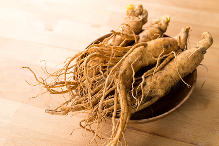 Ginseng Close-up Stockfoto
