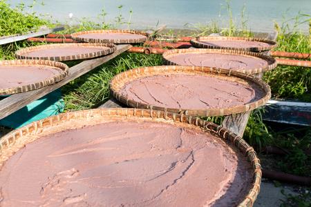 Shrimp paste in basket at Tai O village