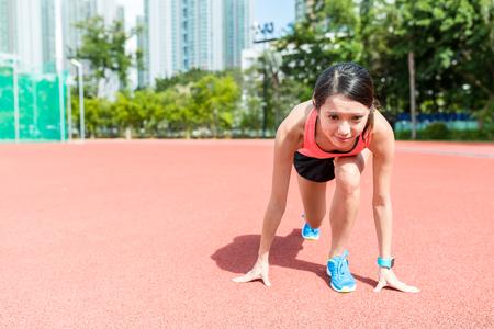 racetrack: Woman ready for race