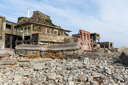 Hashima Island Stock Photo