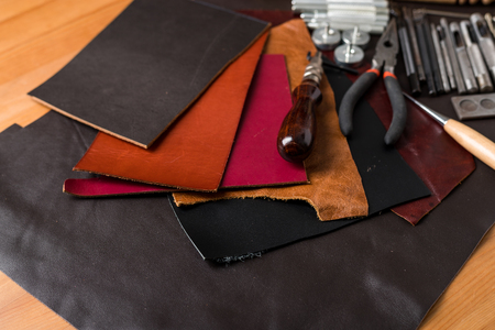 leather texture: Leather craft tools