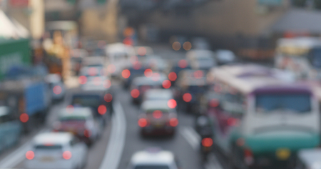 Blur view of traffic congestion Imagens - 96088679