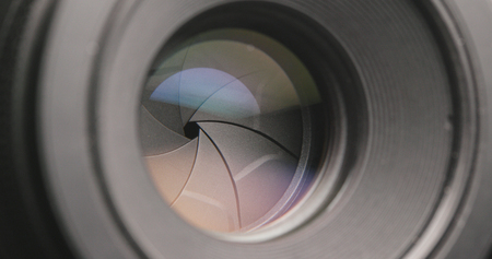 Camera Lens zooming in and out