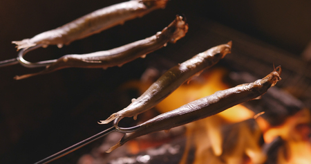 Grilling fish for barbecue