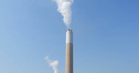 Chimney emit smoke  Stock Photo
