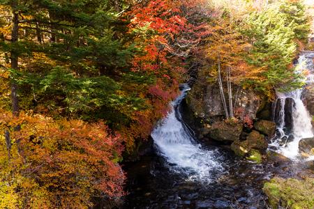 Waterfall in Nikko Stock Photo