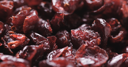 Stack of Dried cranberry Stock Photo