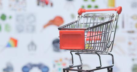 Online shopping concept, online shopping website background