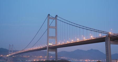Ma Wan, Hong Kong, 03 April 2018:- Tsing Ma bridge in Hong Kong