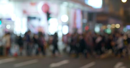 Blur view of city street at night Foto de archivo