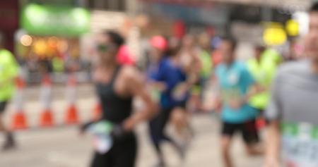 Blur view of standard charteared marathon