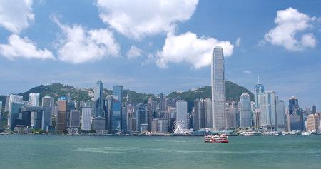 Victoria harbor, Hong Kong, 31 May 2018:- Hong Kong skyline Editorial