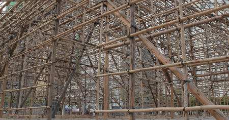 Chinese opera performance Bamboo scaffold