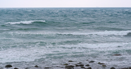 Seascape and ocean wave