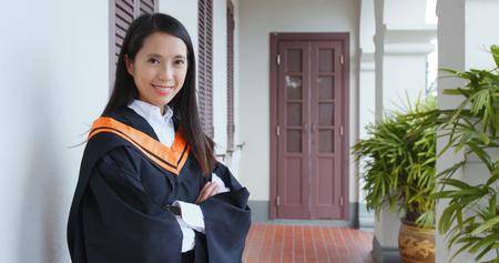 Confident woman get graduated