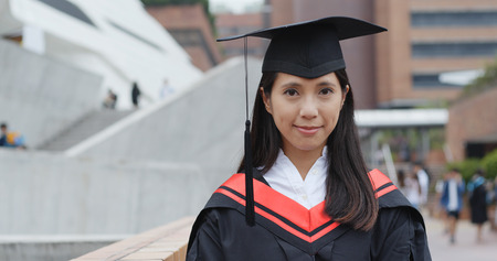 Woman graduation from university