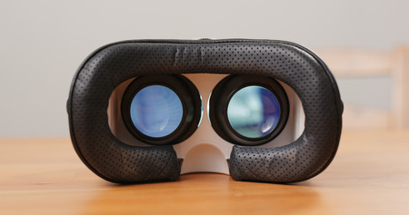 Virtual reality device with playing video inside